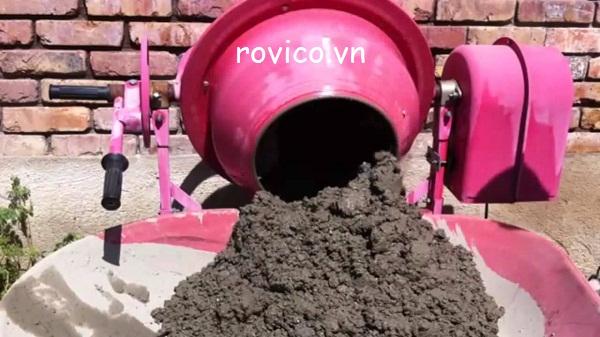 Sử dụng máy trộn bê tông đơn giản đúng phương pháp