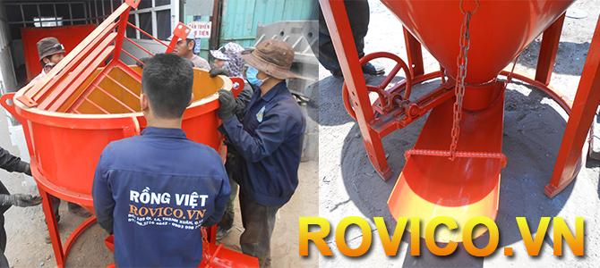 hộc đổ bê tông Rồng Việt 2018